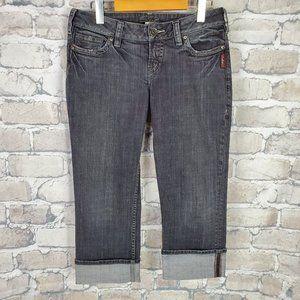 Silver Jeans Capris Black Cuffed Size 29 Low Rise